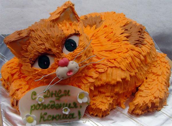 Торты в форме кота